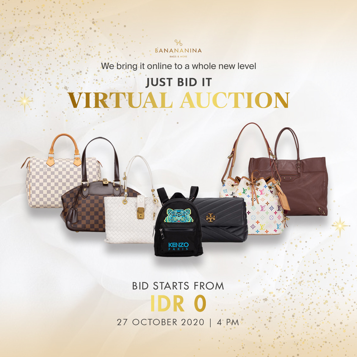 Review Produk : Banananina Virtual Auction, 27 Oktober 2020